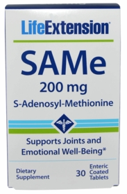SAMe (S-Adenosyl-Methionine) 200 mg - Life Extension - 30 Enteric Coated Tabs
