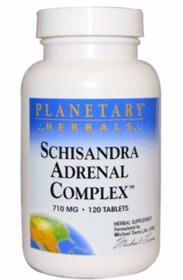 Schisandra Adrenal Complex (710mg) - Planetary Herbals - 120 Tablets