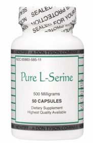 Pure L-Serine (500mg) Montiff - 50 Capsules for Anxiety New Studies indicate helps for Alzeimer's and Parkinson's Diseasehelp for Parkinson's and