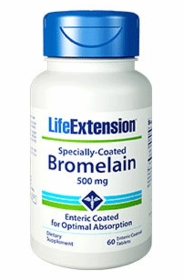 Specially-Coated Bromelain (500 mg) - Life Extension - 60 enteric coated tablets