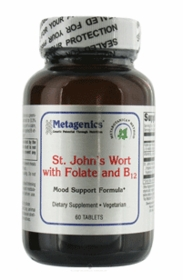 St. Johns Wort With ActiFolate and B12 - Metagenics (60 Tablets) - TwinPak