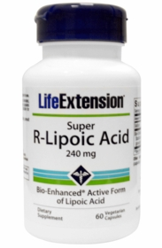 Super R Lipoic Acid (240 mg) - Life Extension - 60 vegetarian capsules - 4-Pak