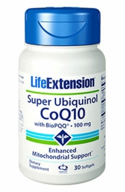 Super Ubiquinol CoQ10 with BioPQQ (100 mg) - Life Extension - 30 Softgels