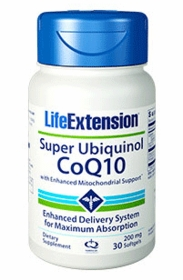 Super Ubiquinol CoQ10 with Enhanced Mitochondrial Support (200 mg) - Life Extension - 4-Pak