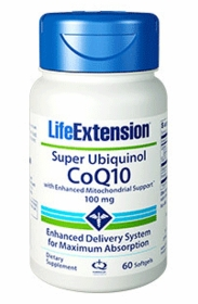 Super Ubiquinol CoQ10 with Enhanced Mitochondrial Support - Life Extension - 4-Pak