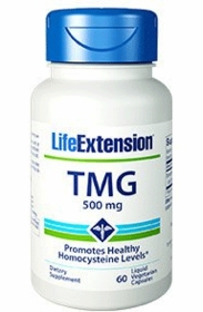 TMG (500 mg) - Life Extension - 60 Liquid Vegetarian Capsules TwinPak