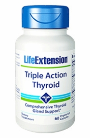 Triple Action Thyroid - Life Extension - 60 Vegetarian Capsules