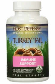 ее Turkey Tail Organic Mushroom - Paul Stamets Fungi Perfecti - 120 Vegetarian Caps