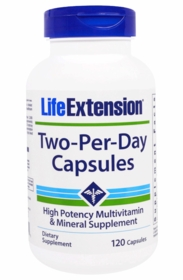 Two-Per-Day - Life Extension - 120 Capsules - TwinPak