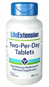 Two-Per-Day - Life Extension - 60 Tabs