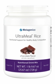 UltraMeal Rice - Metagenics - Natural Chocolate or Vanilla - 14 Servings