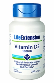 Vitamin D3 - Life Extension - 1000 IU - Life Extension - 250 Softgels - TwinPak