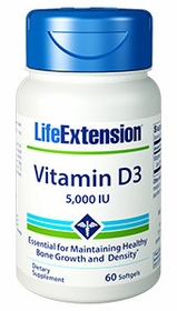 Vitamin D3 (5000 IU) Life Extension - 60 Softgels - TwinPak