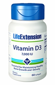 Vitamin D3, 7,000 IU - Life Extension - 60 Softgels - TwinPak
