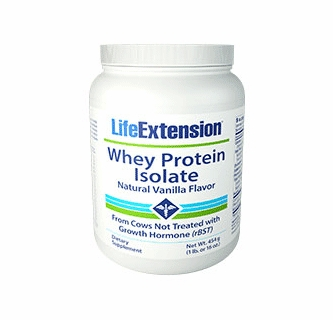 Whey Protein Isolate (Natural Vanilla Flavor) - 454 grams (1 lb  or