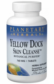 Yellow Dock Skin Cleanse - Planetary Herbals - 120 Tablets (760mg) - TwinPak