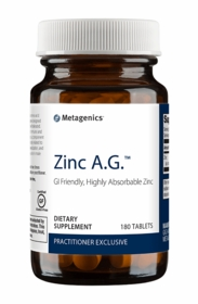 Zinc A.G. - Metagenics (180 Tablets) - TwinPak