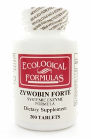 ZYWOBIN FORTE - BACK IN STOCK BY MFGR. 600 ENTERIC COATED  - 3 BOTTLES QUANTITY DISCOUNT     ANTI-INFLAMMATORY ENZYMES One bottle price available