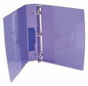 "1 1/2"" PURPLE POLY BINDER (40776)"