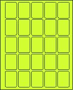 1 1/2 X 2 FLUORESCENT CHARTREUSE LABELS (L1520)