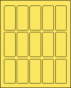 1 1/2 X 3 PASTEL YELLOW L1530-15PY