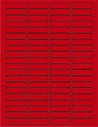 "1 3/4"" X 1/2"" BRILLIANT RED LABELS (GL0517BR)"