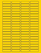 """1 3/4"""" X 1/2"""" BRILLIANT YELLOW LABELS (GL0517BY)"""
