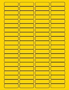 "1 3/4"" X 1/2"" BRILLIANT YELLOW LABELS (GL0517BY)"