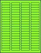 "1 3/4"" X 1/2"" FLUORESCENT GREEN LABELS (GL0517FG)"