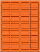 "1 3/4"" X 1/2"" FLUORESCENT ORANGE LABELS (GL0517FO)"