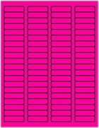 "1 3/4"" X 1/2"" FLUORESCENT PINK LABELS (GL0517FP)"