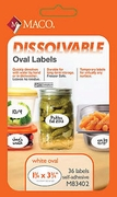 1 3/4 X 3 3/4 WRITE ON DISSOLVABLE LABEL, 36 LABELS PER PACK