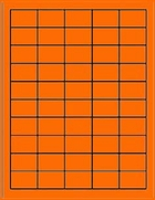 1.5 X 1 BUTTCUT LABEL - FL. ORANGE T975BC