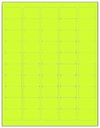 1.5 X 1 LABEL - FLUORESCENT CHARTREUSE T1000