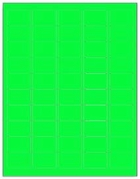 1.5 X 1 LABEL - FLUORESCENT GREEN T1000