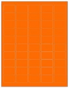 1.5 X 1 LABEL - FLUORESCENT ORANGE T1000