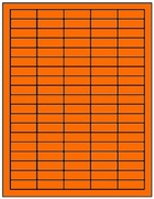 1.5 X .5 FLUORESCENT LABELS - ORANGE T1100 - LASER OR INKJET