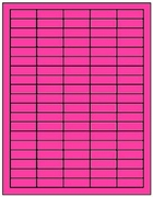 1.5 X .5 FLUORESCENT LABELS -  PINK T1100 - LASER OR INKJET