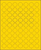 "1"" BRILLIANT YELLOW LABEL (GLC100BY) 100 SHEETS/BOX"