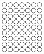 "1"" CIRCLE   - White -  100 sheets per box"