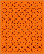 "1"" DIAMETER FL. ORANGE T1025"