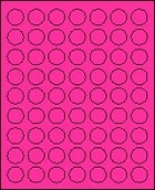 "1"" FLUORESCENT PINK LABEL (GLC100FP) 100 SHEETS/BOX"