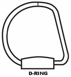 "1"" capacity D-ring view binder FOR 8 1/2"" X 11"" SHEET SIZE (386-14)"