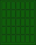"1"" X 2"" BRILLIANT GREEN LABEL (L1020BG)"
