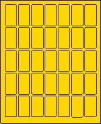 "1"" X 2"" BRILLIANT YELLOW LABEL (L1020BY)"
