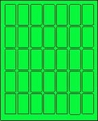 "1"" X 2"" FLUORESCENT GREEN LABEL (L1020FG)"