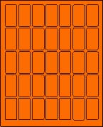 "1"" X 2"" FLUORESCENT ORANGE LABEL (L1020FO)"