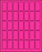 "1"" X 2"" FLUORESCENT PINK LABEL (L1020FP)"