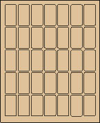 "1"" X 2"" PASTEL BROWN LABEL (L1020PBRWN)"