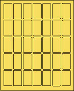 "1"" x 2"" PASTEL YELLOW LABEL (L1020PY)"